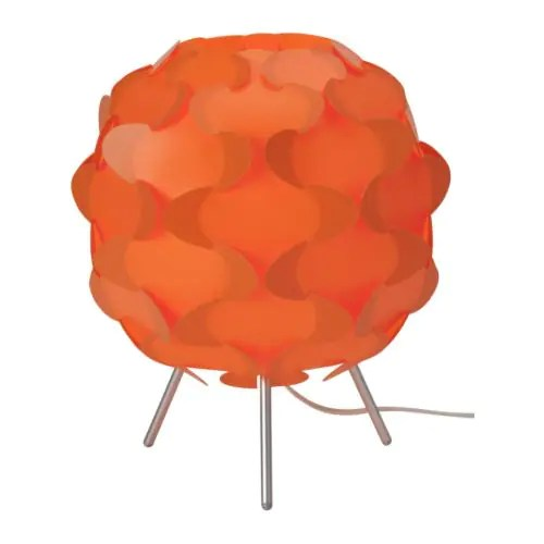 "FILLSTA Table lamp, orange Diameter: 11 "" Height: 12 "" Cord length: 7 ' 10 ""  Diameter: 27 cm Height: 31 cm Cord length: 240 cm"