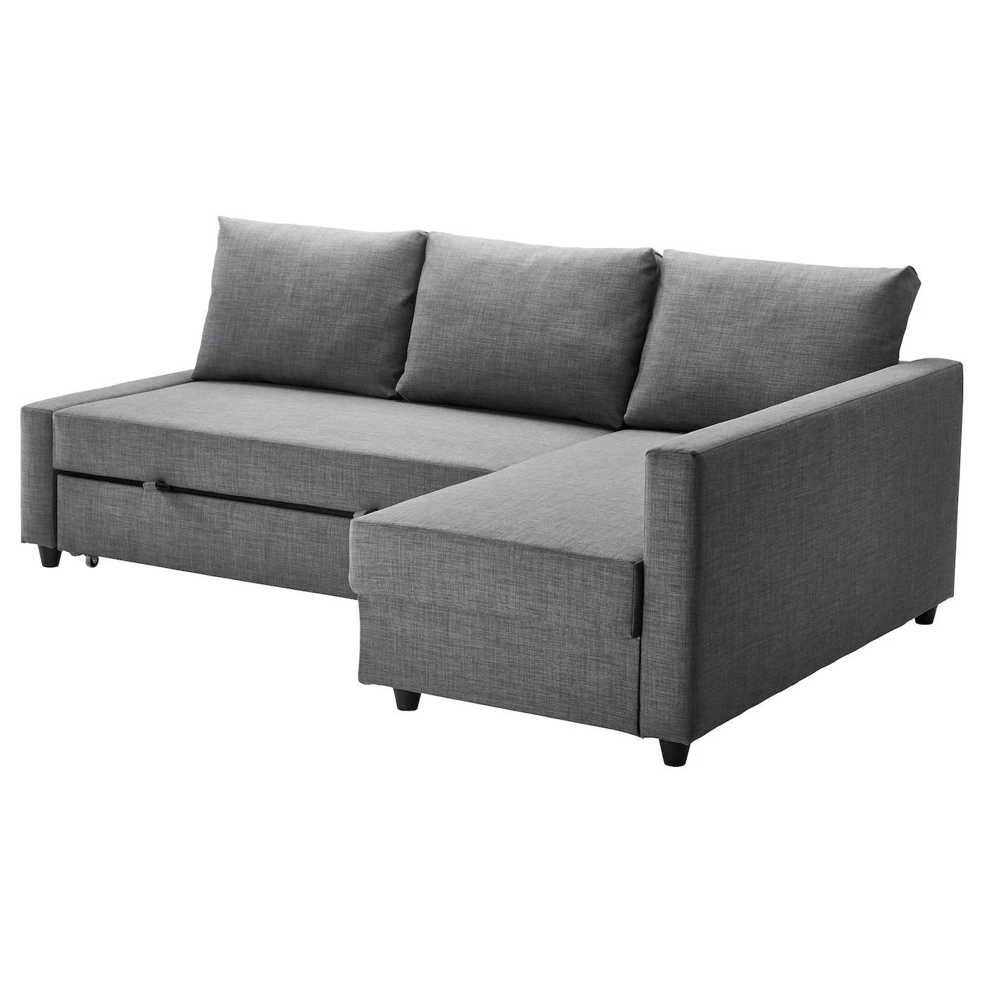 Sleeper Sectional 3 Seat W Storage Friheten Skiftebo Dark Gray