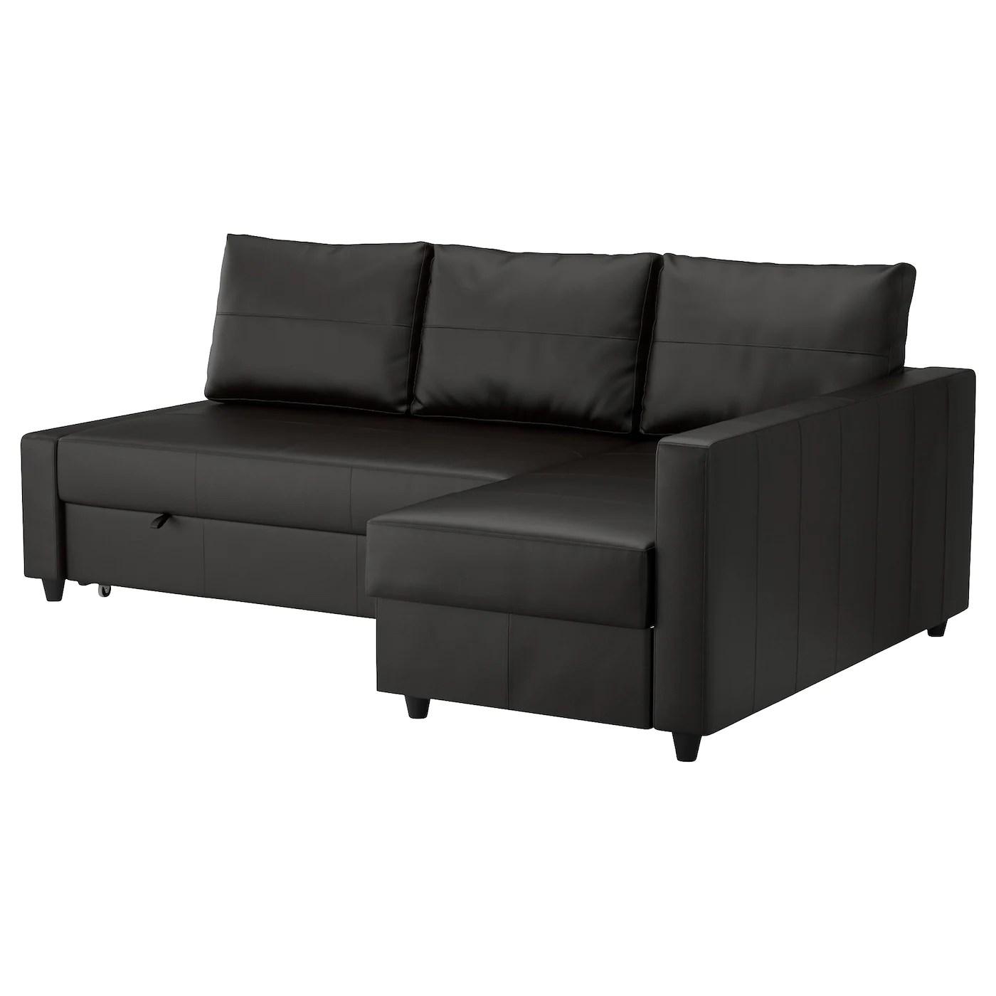 Sleeper Sectional 3 Seat W Storage Friheten Bomstad Black