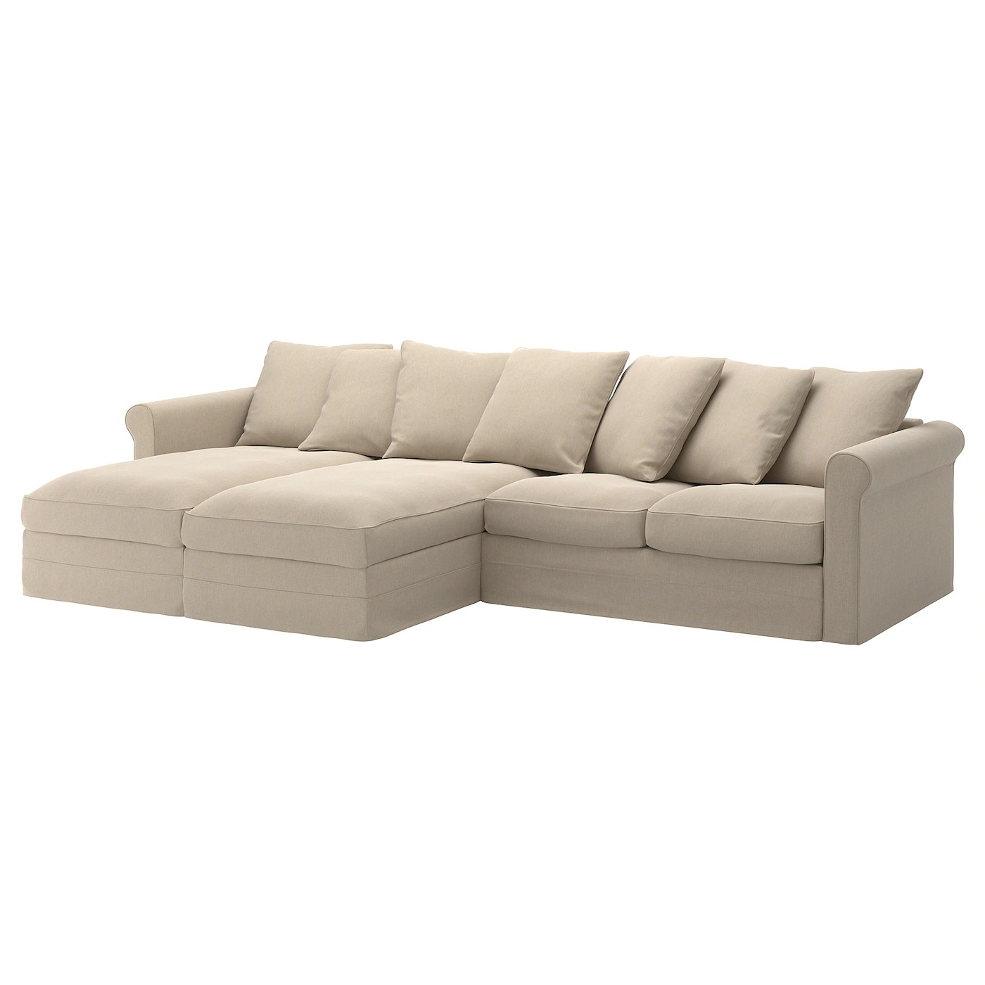 Sectional 4 Seat Gronlid With Chaise Sporda Natural
