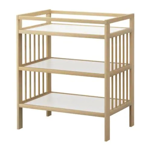 "GULLIVER Changing table, birch Length: 32 1/4 "" Width: 21 1/4 "" Height: 36 5/8 ""  Length: 82 cm Width: 54 cm Height: 93 cm"