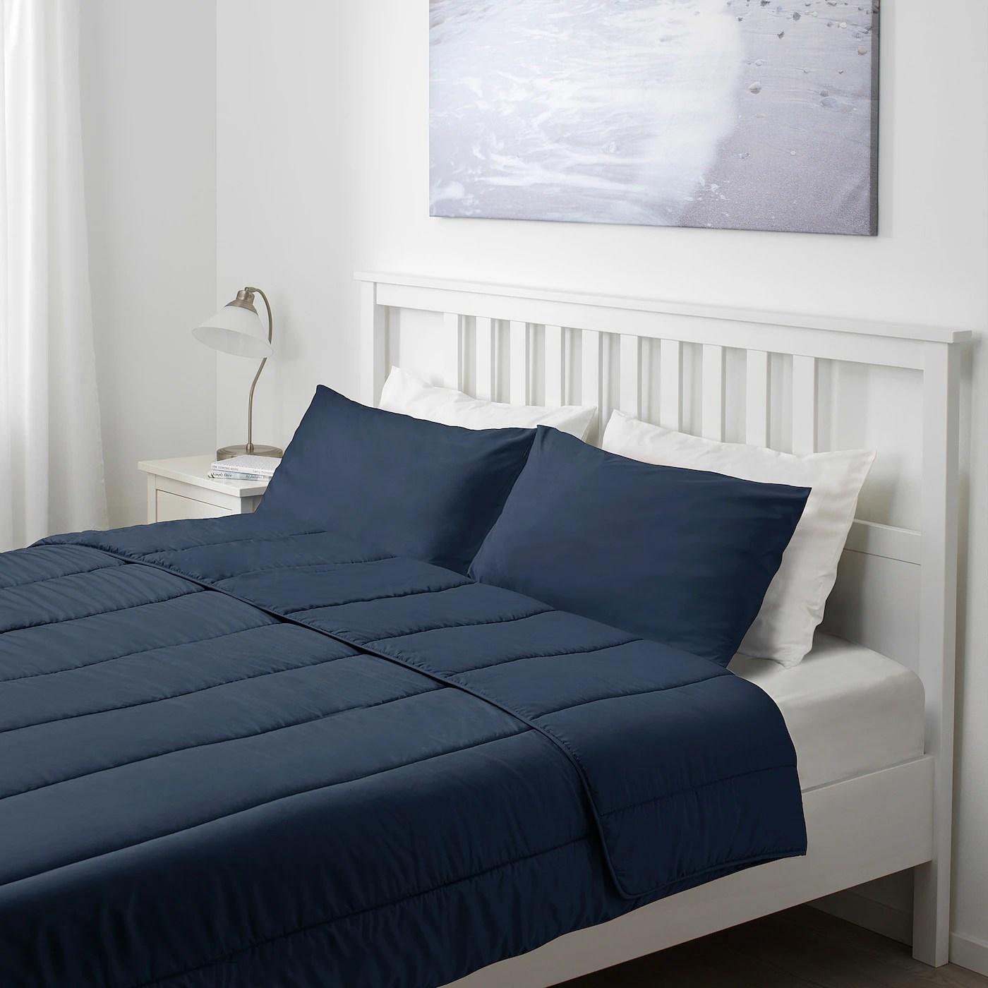 hallespring comforter set dark blue cooler full queen