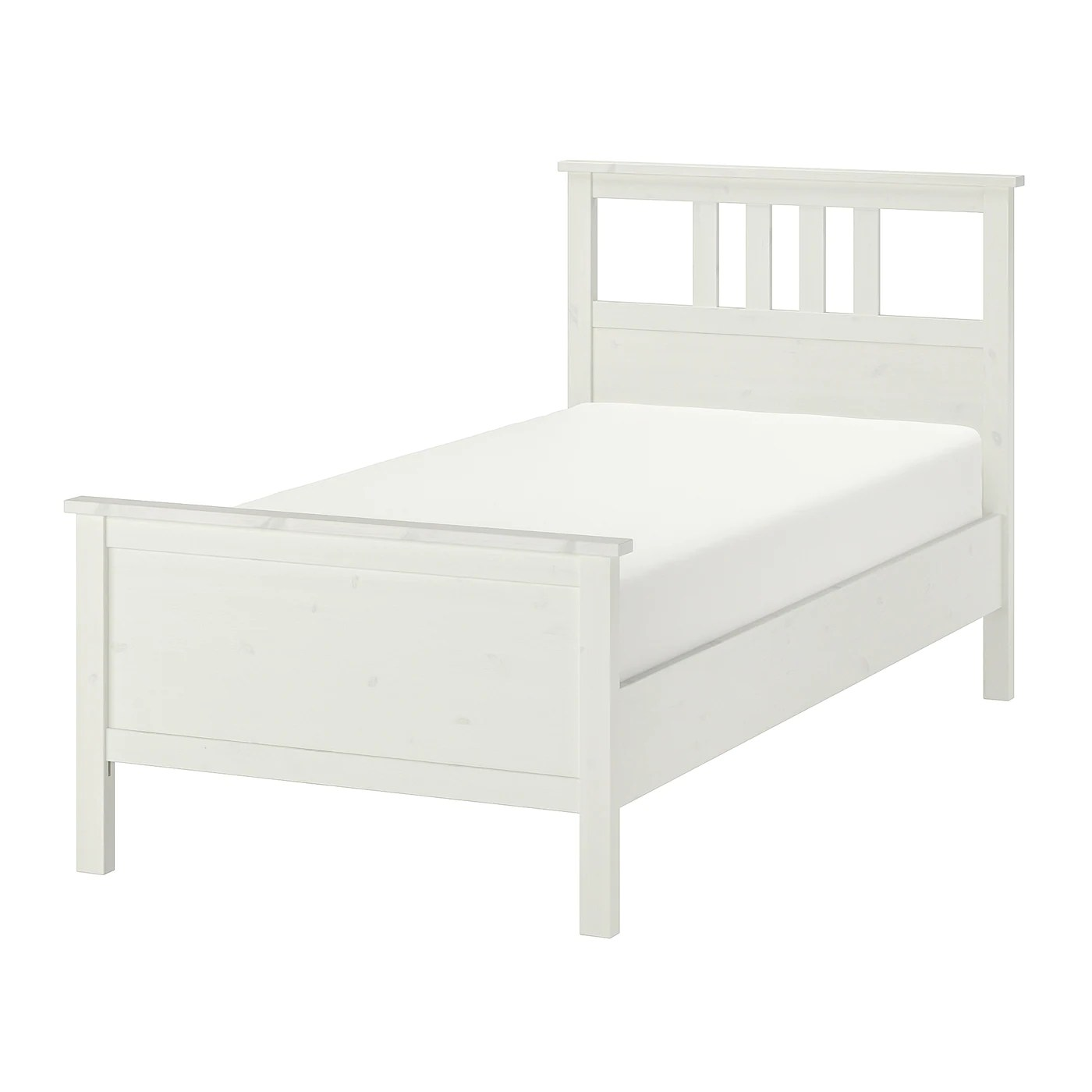 hemnes bed frame white stain luroy twin