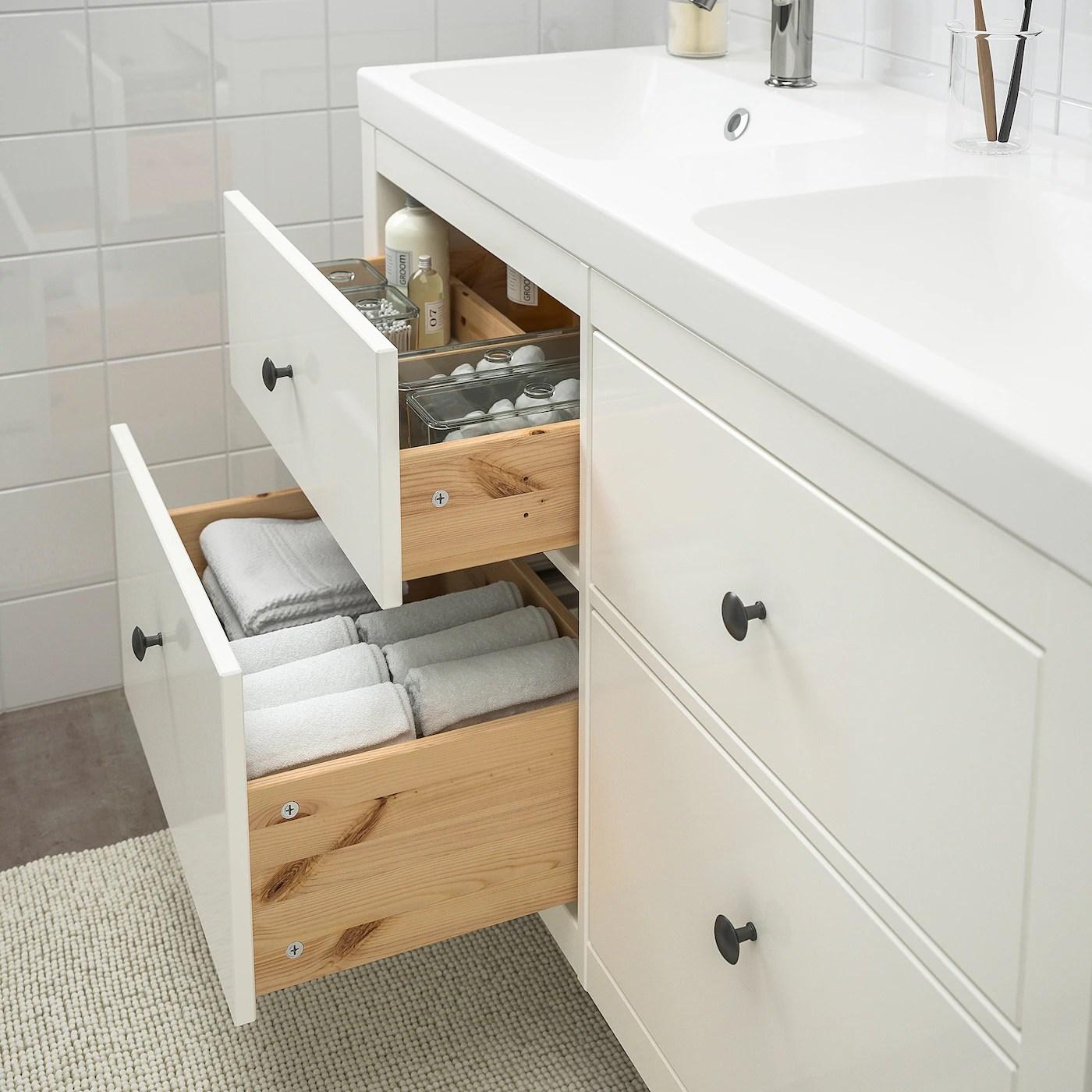 hemnes odensvik bathroom furniture set of 5 white voxnan faucet 48 3 8