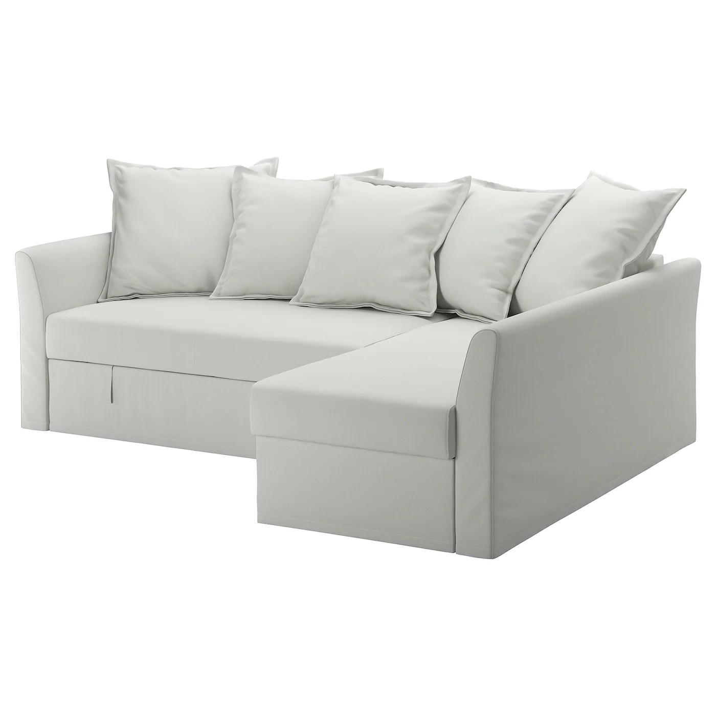 holmsund cover for sleeper sectional 3 seat orrsta light white gray