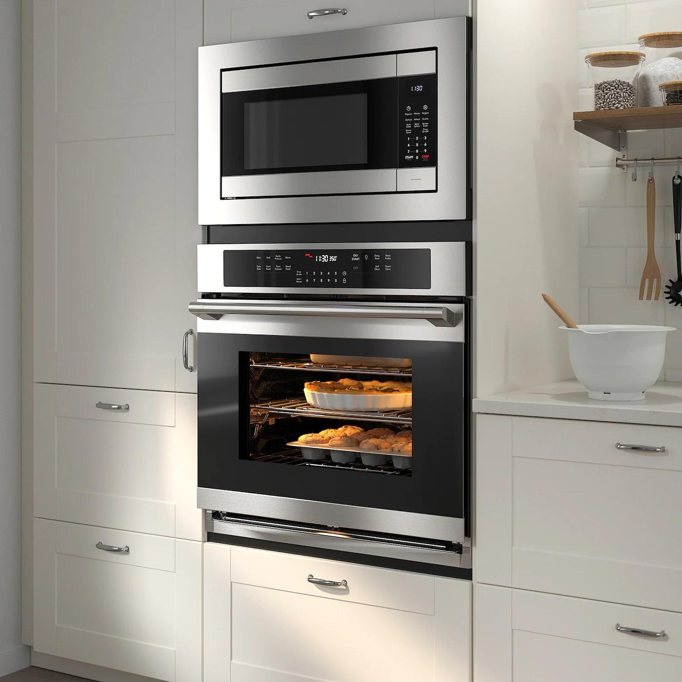 huvudsaklig built in microwave stainless steel color