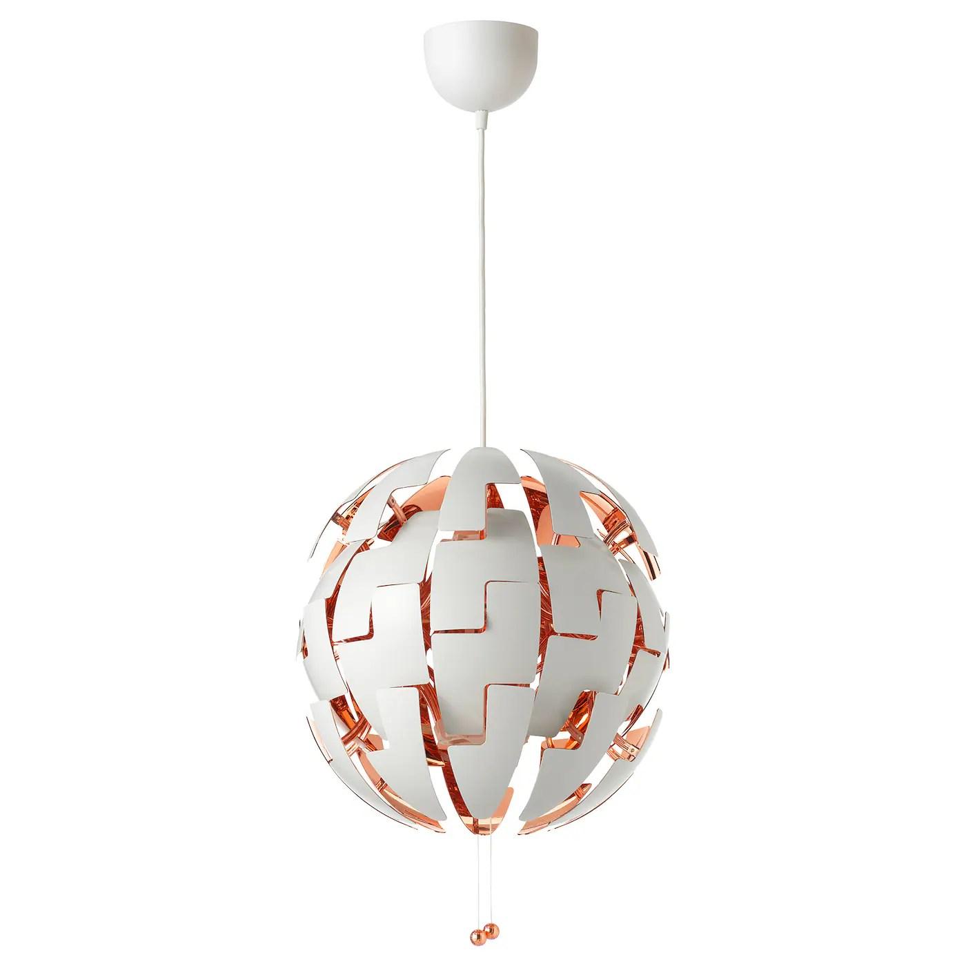 ikea ps 2014 pendant lamp white copper color 14