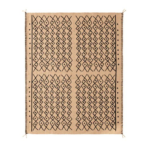 JASSA Rug, flatwoven IKEA Jute is a durable and recyclable material with natural color variations.