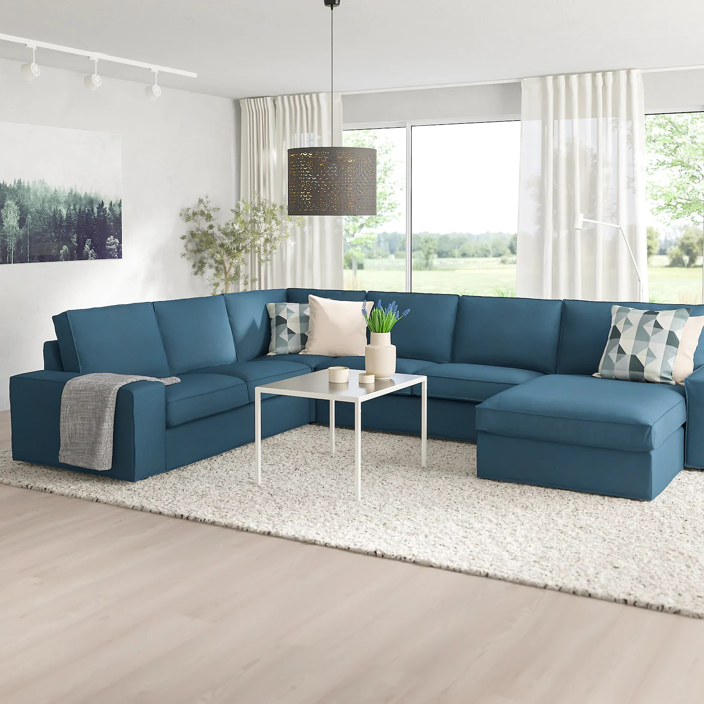 Slipcovers for ikea's färlöv armchair start at $149. KIVIK Sectional, 5-seat corner - Hillared with chaise ...