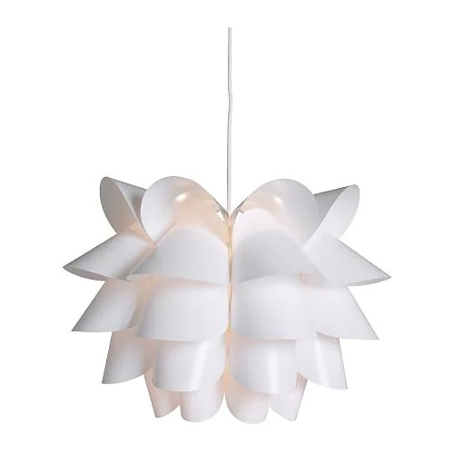 "KNAPPA Pendant lamp white Diameter: 18 "" Height: 14 ¼ "" Cord length: 15 ' 5 ""  Diameter: 46 cm Height: 36 cm Cord length: 4.7 m"