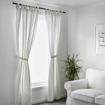 Lenda Curtains With Tie Backs 1 Pair Bleached White 55x98 Ikea