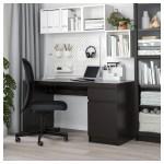 Malm Desk Black Brown 55 1 8x25 5 8 Ikea