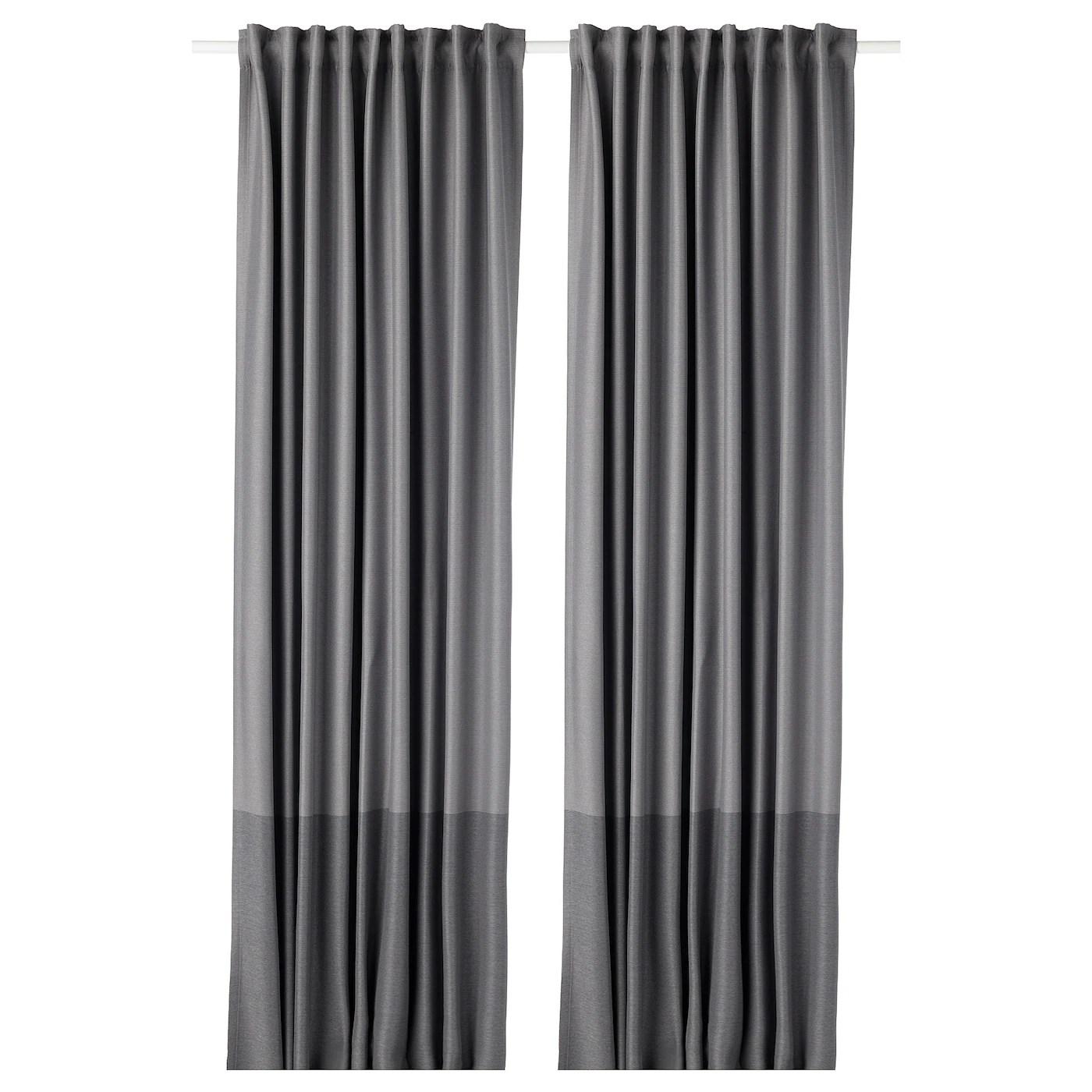 marjun room darkening curtains 1 pair gray 57x98