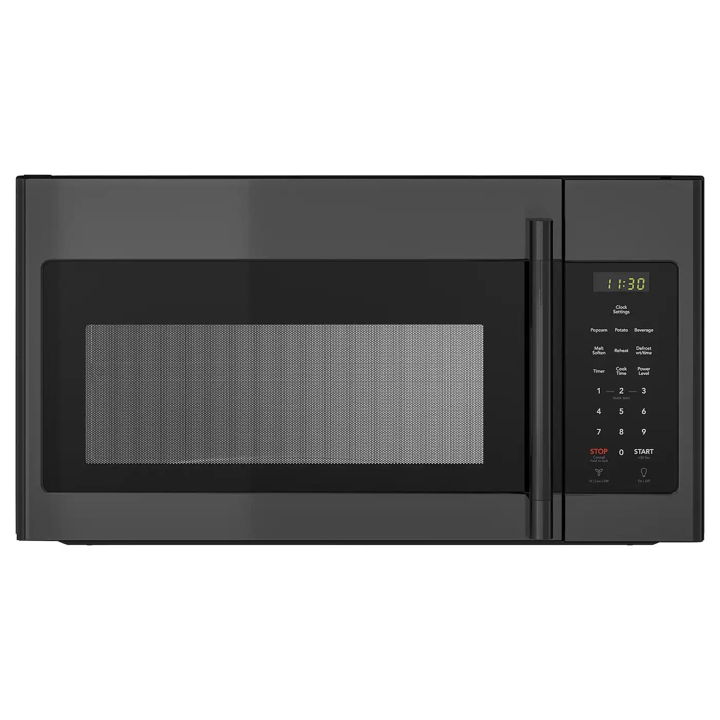 medelniva over the range microwave black stainless steel