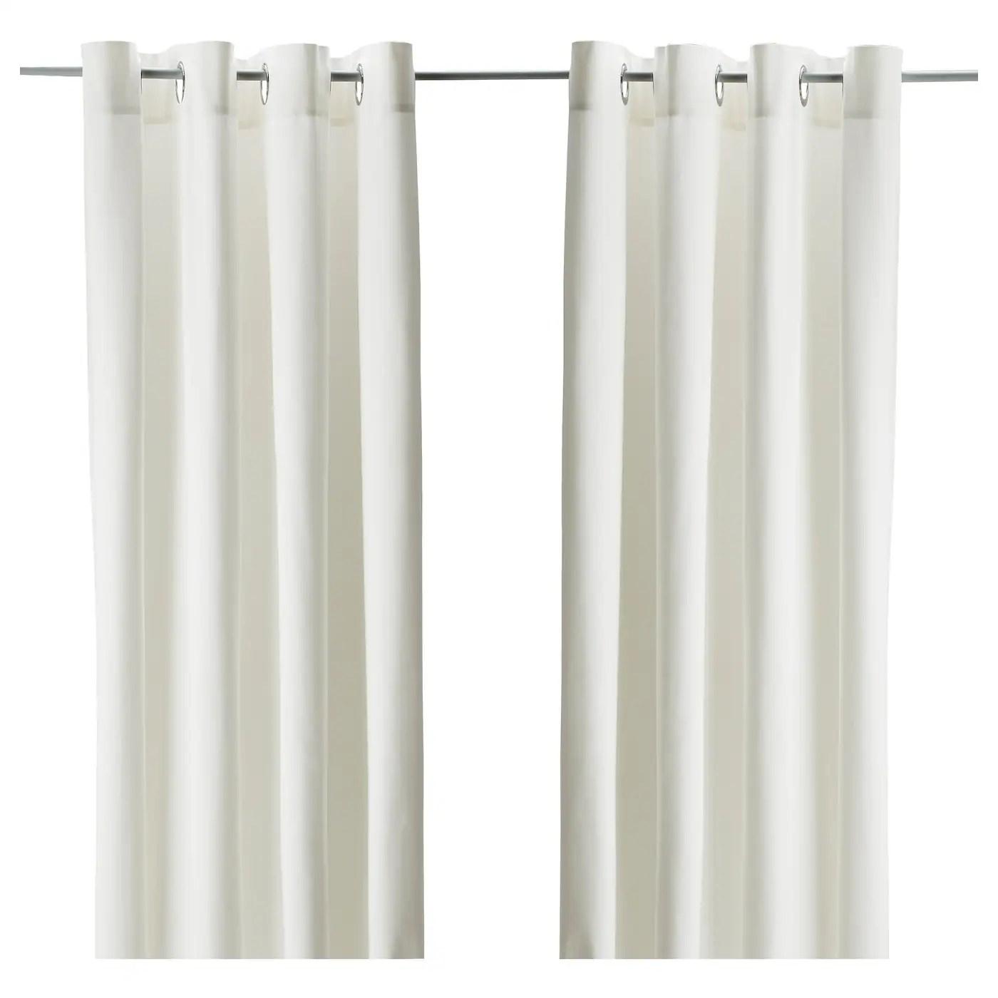 merete room darkening curtains 1 pair white 57x98