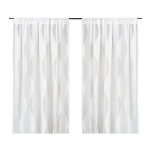 MURRUTA Lace Curtains 1 Pair IKEA