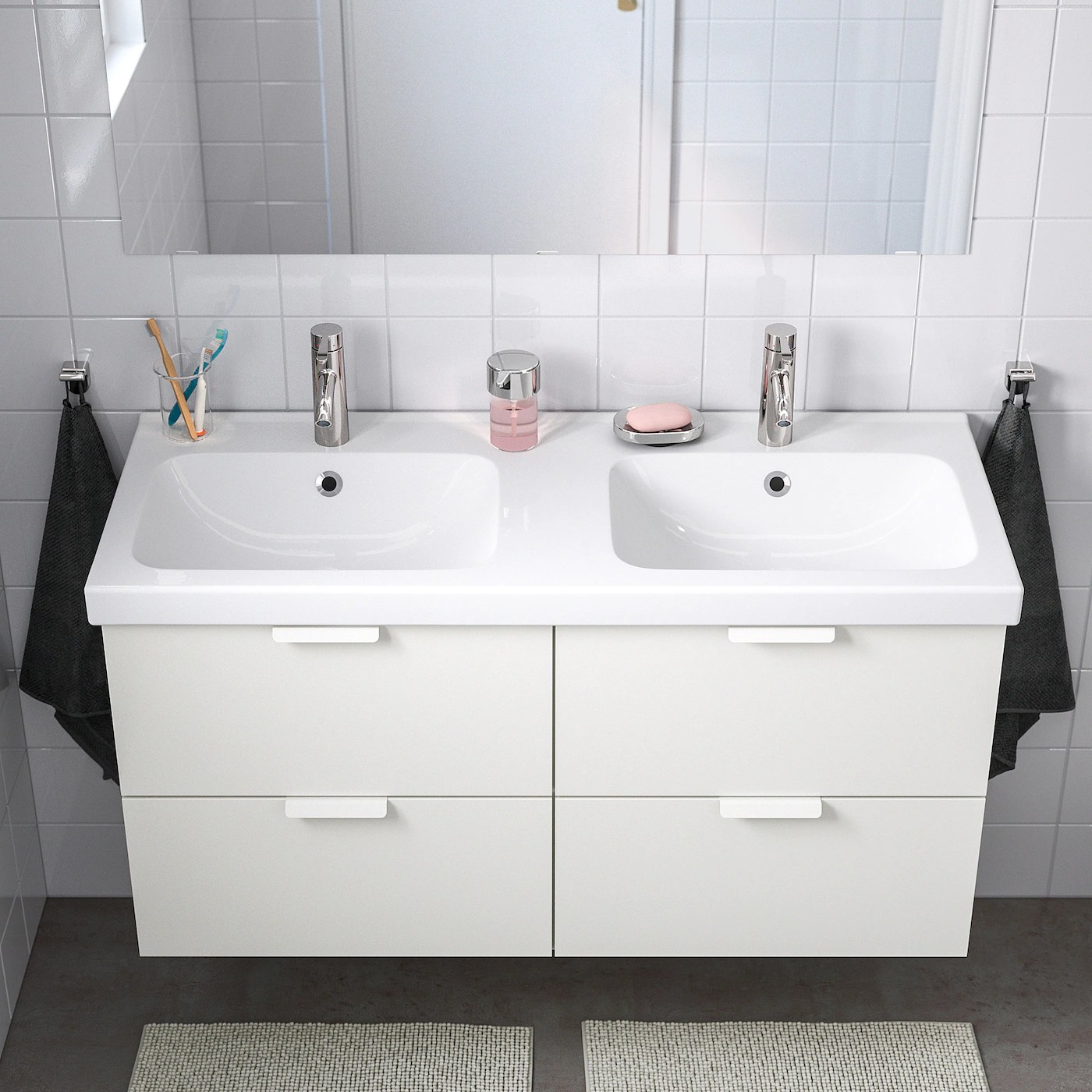 odensvik double bowl sink 48 3 8x19 1 4x2 3 8