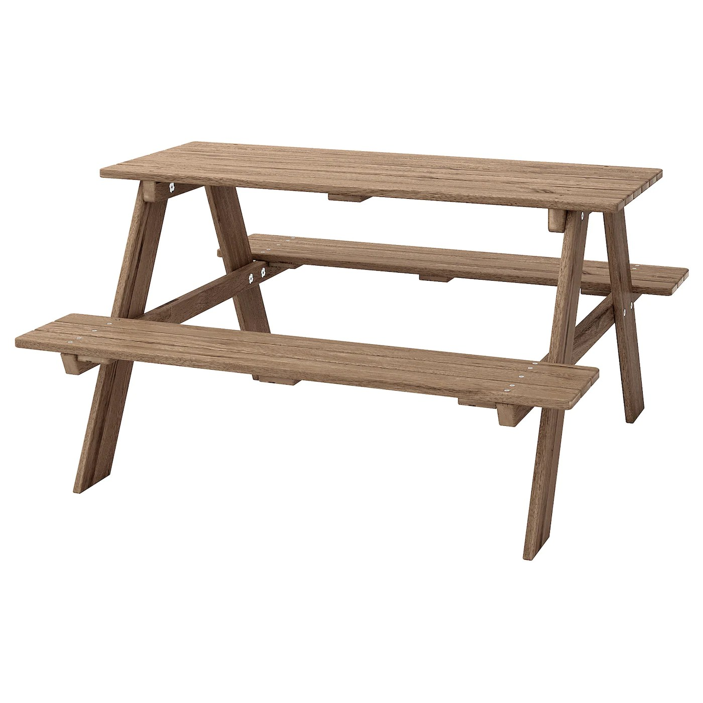 reso children s picnic table light brown stained
