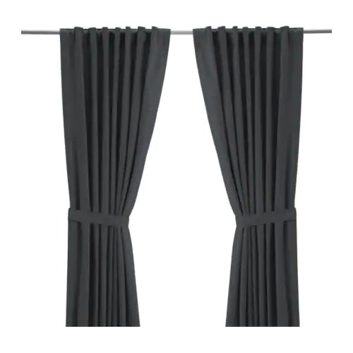 RITVA Pair of curtains with tie-backs IKEA The curtains let the daylight through but reduce direct sunlight.