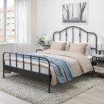 Sagstua Bed Frame Black Luroy Full Ikea