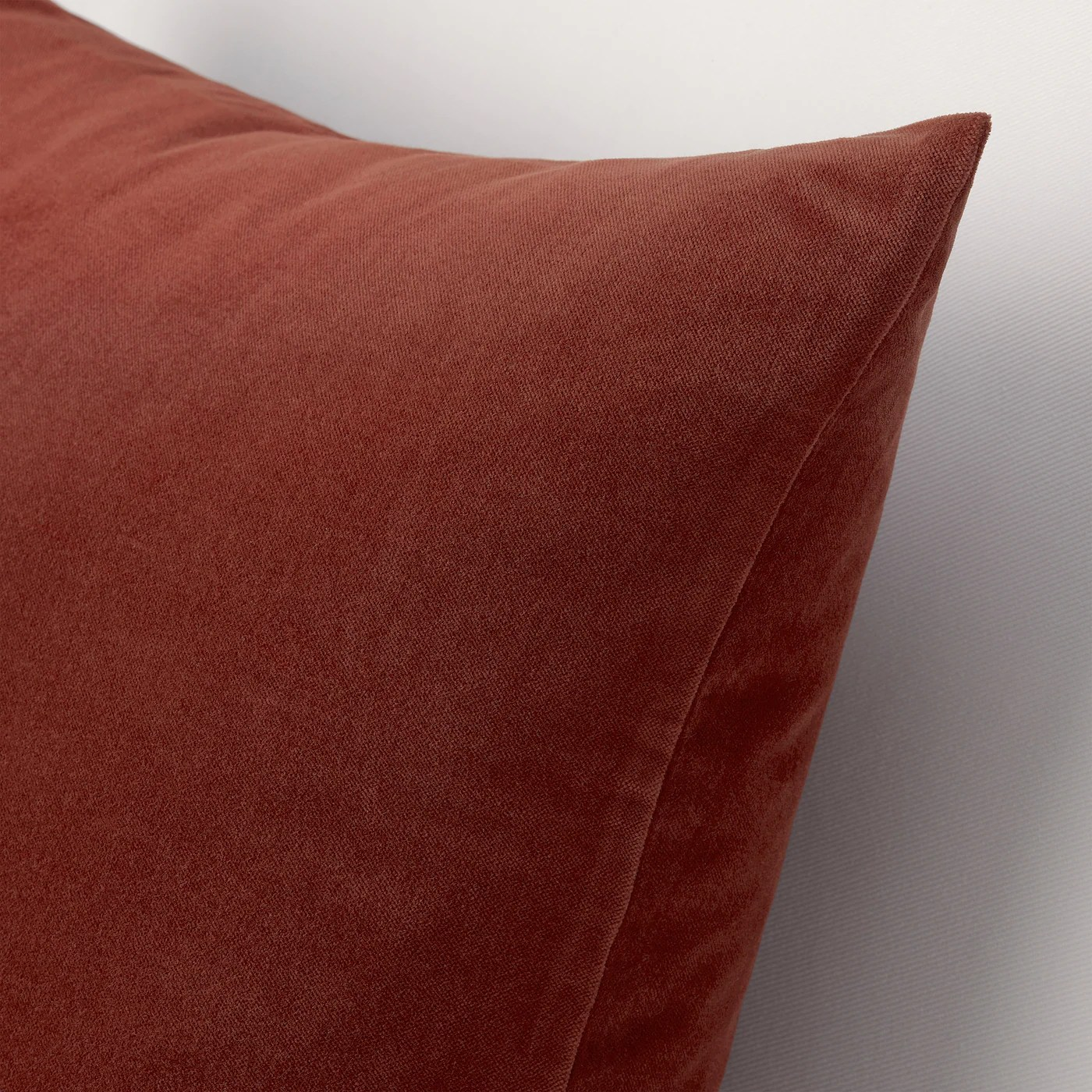 sanela cushion cover red brown 20x20