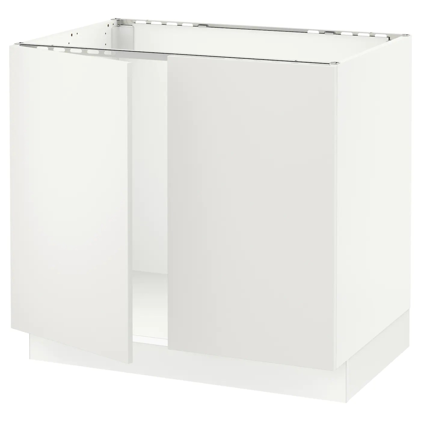 sektion base cabinet for sink 2 doors white haggeby white 36x24x30