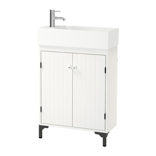 SILVERÅN / LILLÅNGEN Sink cabinet with 2 doors IKEA Perfect in a small bathroom since the sink cabinet is shallow.