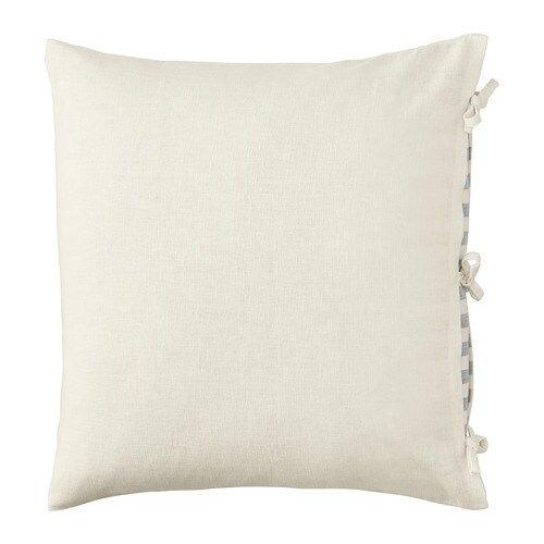URSULA Cushion cover IKEA The cushion cover is made of ramie, a durable natural material with a slightly irregular texture.