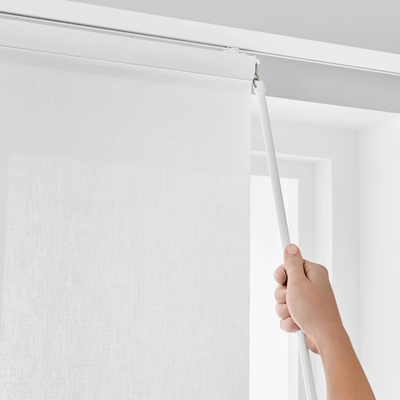 ikea panel curtain holder silver