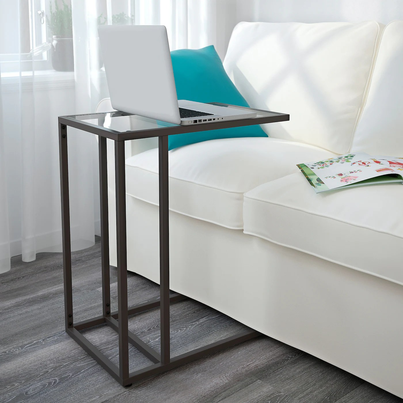 ikea scrivanie (foto) scrivania ikea bianca e arancione. Vittsjo Laptop Stand Black Brown Glass 13 3 4x25 5 8 Ikea