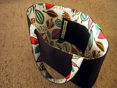 Simple ikea fabric shopping tote