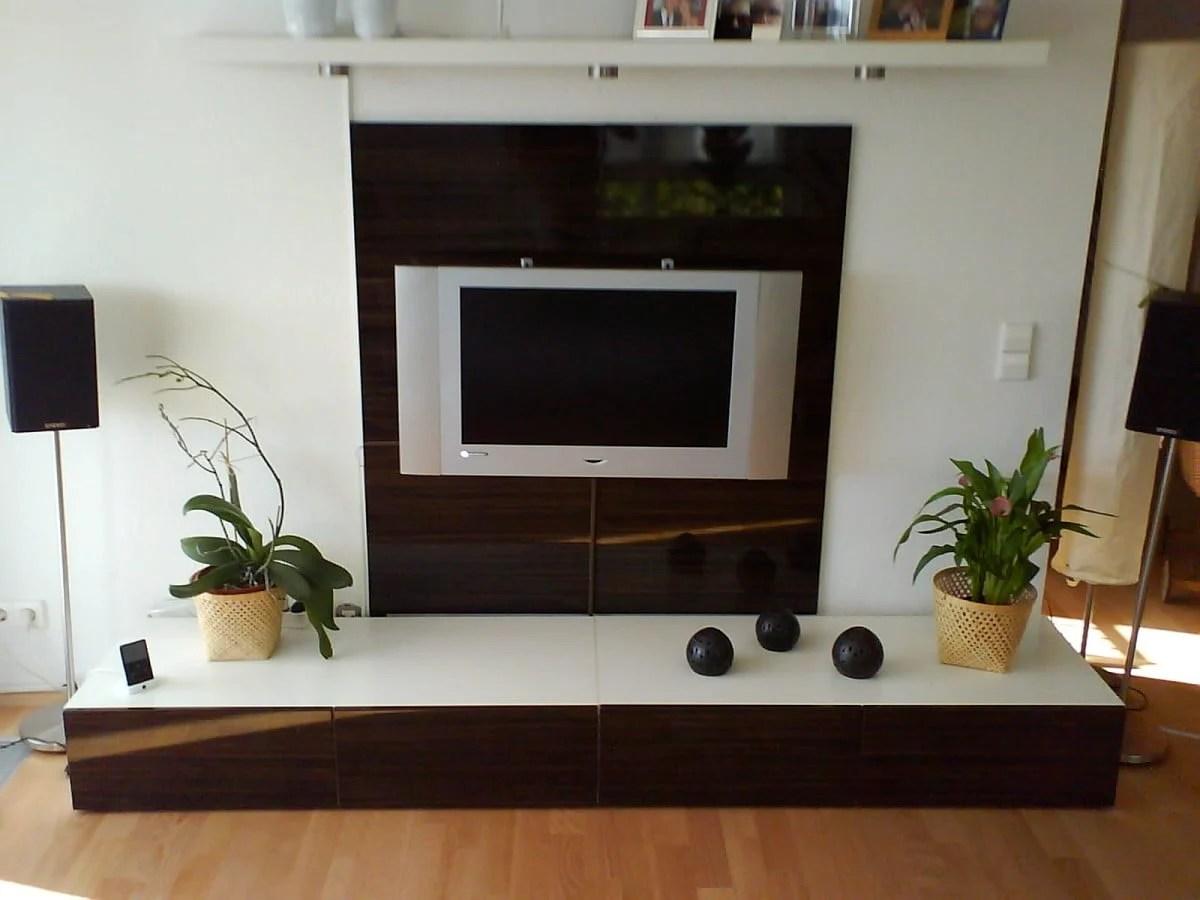 A Flat Tv Wall Combo Unit Ikea Hackers