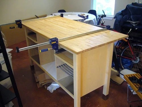 make your own kitchen island with breakfast counter ikea hackers. Black Bedroom Furniture Sets. Home Design Ideas