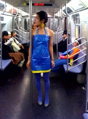 Ikea Blue Bag Halter Dress IKEA Hackers IKEA Hackers