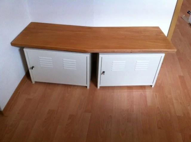 Custom shoe rack and bench ikea hackers for Ikea belt hanger