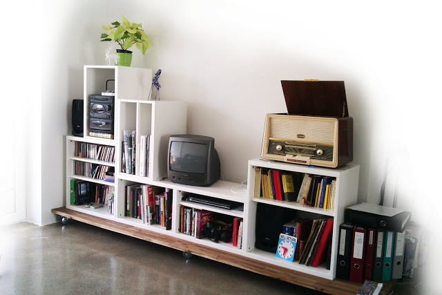 Stacking Besta For Media Storage Ikea Hackers