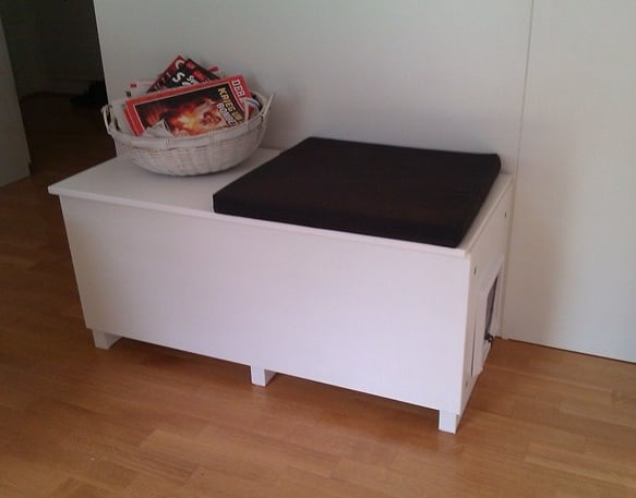 Cat Litter Box In A Living Room Why Not Ikea Hackers