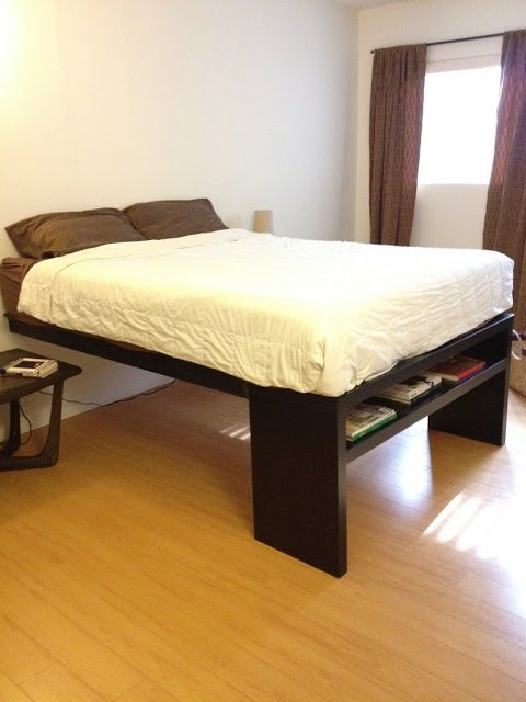 Lack Sofa Table Platform Bed Ikea Hackers