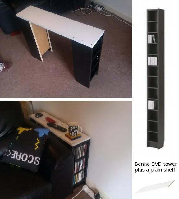 CD storage/sofa table