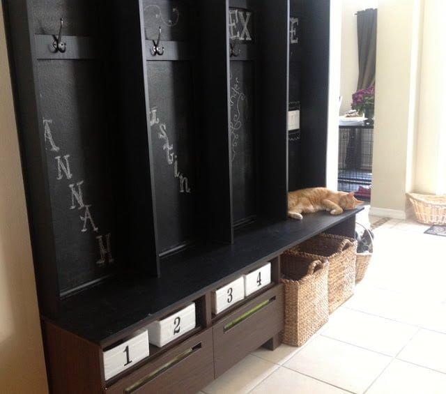 Mudroom Organizers Ikea Storage : Besta tv bench turned mudroom storage ikea hackers