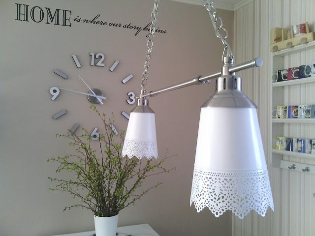 Kroby Into Skurar Pendant Double Lamp Ikea Hackers