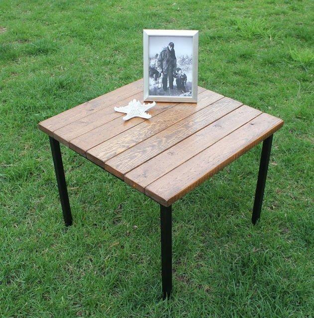 Great Klubbo Fjellse Slats ud Vintage Industrial Table