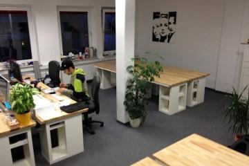 Custom Beech And Maple Desk Ikea Hackers