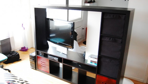 Expedit Tv Storage With Rotating Tv Ikea Hackers Ikea