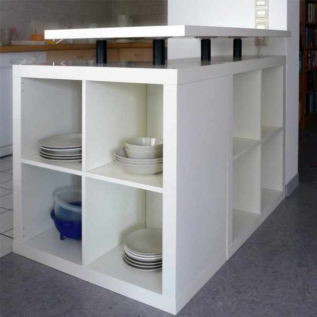 Cute L Shaped Expedit Kitchen Island