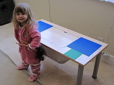 Nice Lego table from IKEA kitchen cabinet door