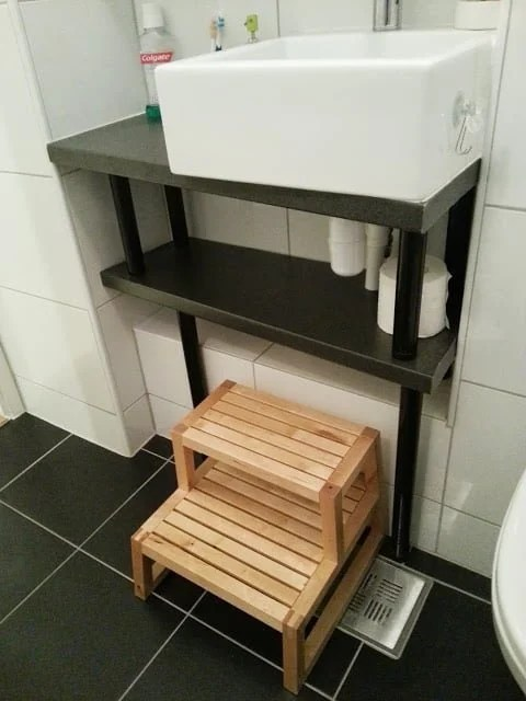 Custom Bathroom Unit with Adils legs
