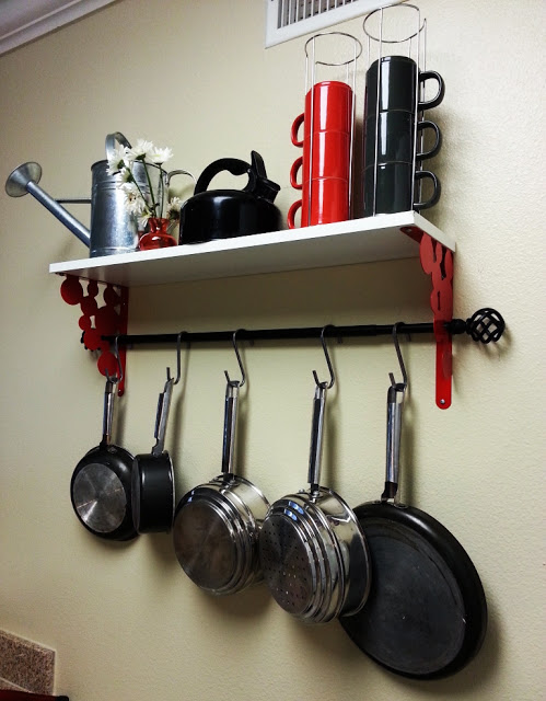 Perfect Ikea Pot Rack Hack