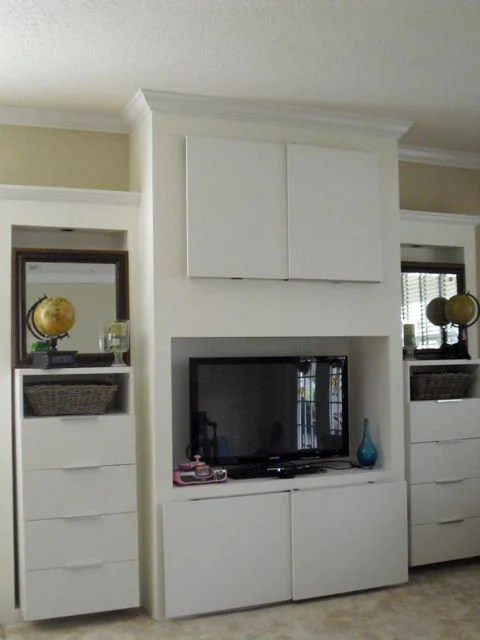 Built In Entertainment Center Ikea Hackers