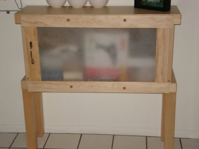 Malm chest turned entry way storage ikea hackers - Malm frisiertisch weiay ...